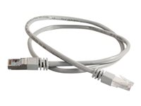 C2G Cat5e Booted Shielded (STP) Network Patch Cable - Patch-kabel - RJ-45 (hane) till RJ-45 (hane) - 2 m - STP - CAT 5e - formpressad - grå 83751
